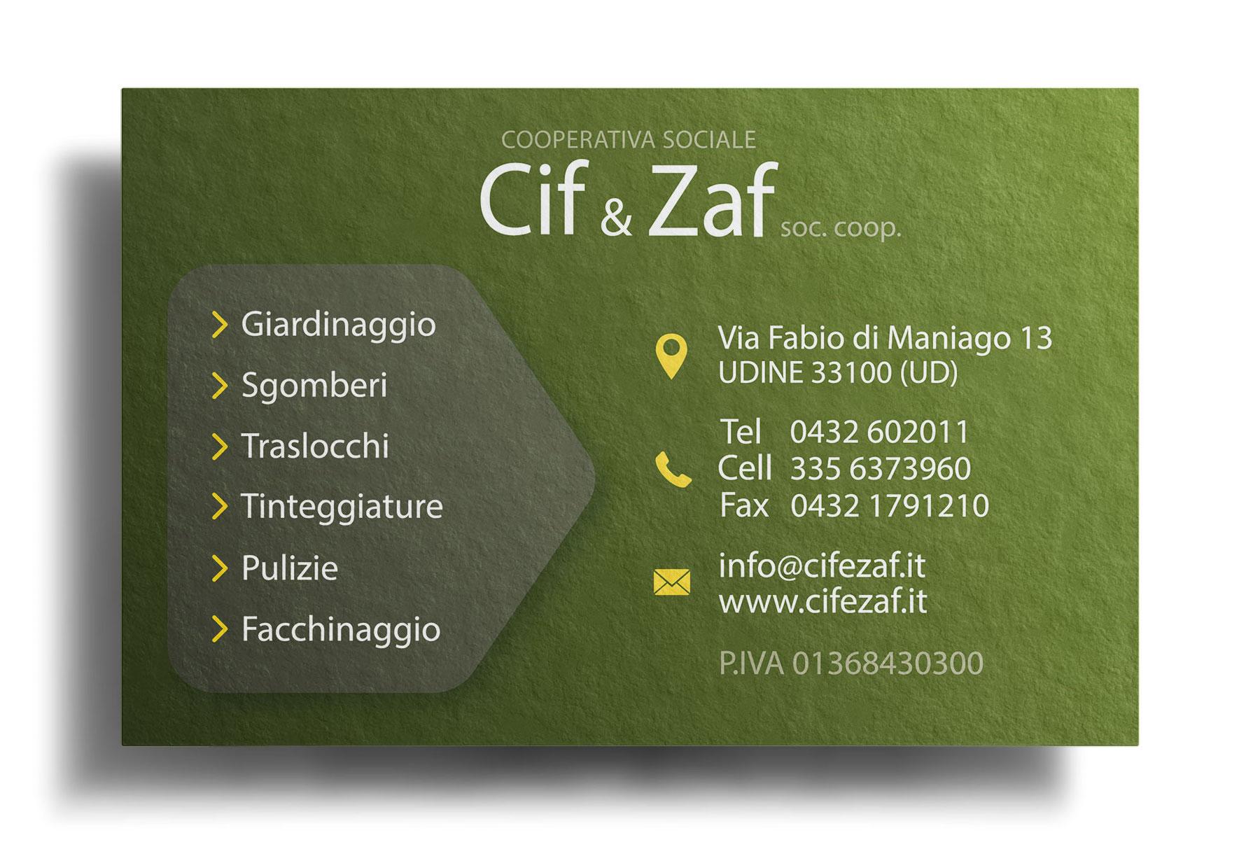 Biglietto da visita Cif & Zaf retro